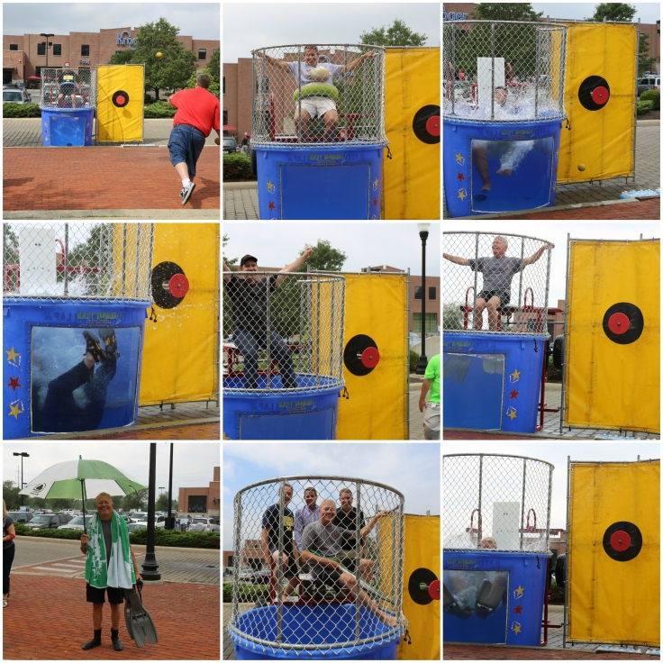 dunk tank collage