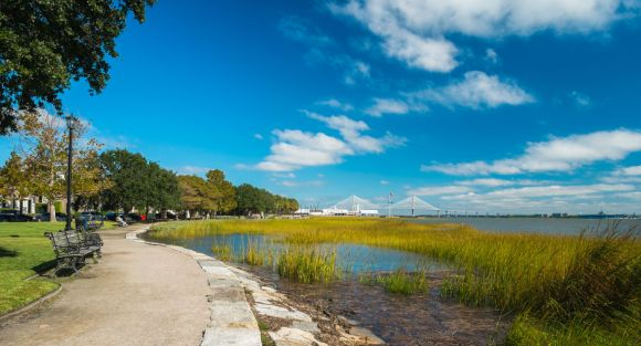 Waterfront Park in downtown Charleston, South Carolina