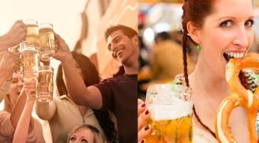 german - oktoberfest - bier garden bier house - dual image template - beer